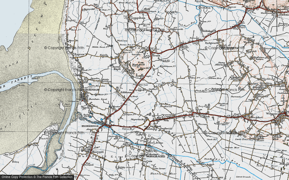 Old Map of White Cross, 1919 in 1919