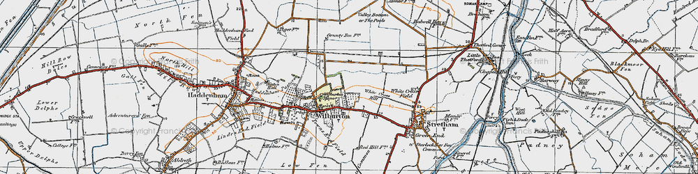 Old map of White Cross Hill in 1920