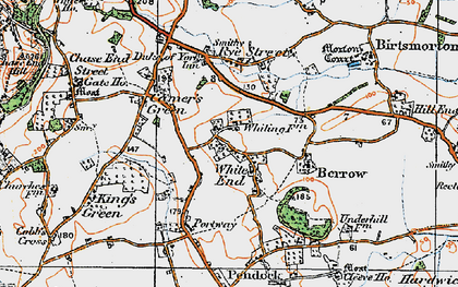 Old map of White End in 1920