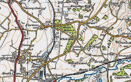 Old map of White Gate in 1919