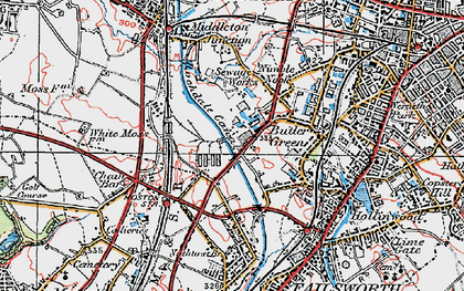 Old map of White Gate in 1924