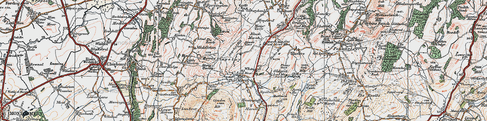 Old map of White Grit in 1921