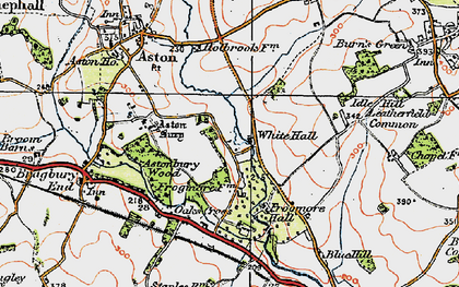 Old map of White Hall in 1920