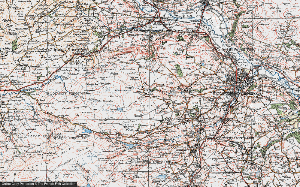 Old Map of White Hill, 1925 in 1925