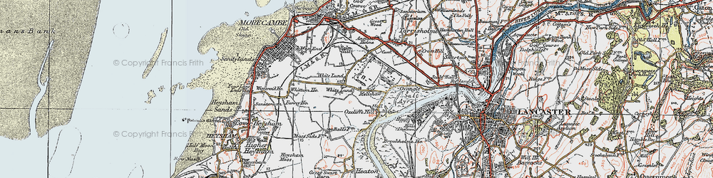 Old map of White Lund in 1924