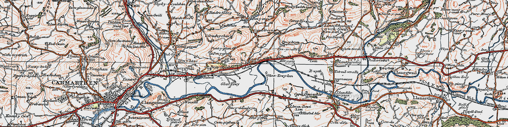 Old map of White Mill in 1923