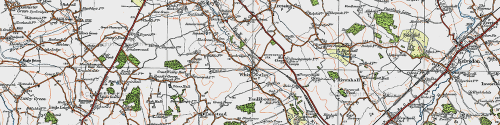 Old map of White Notley in 1921