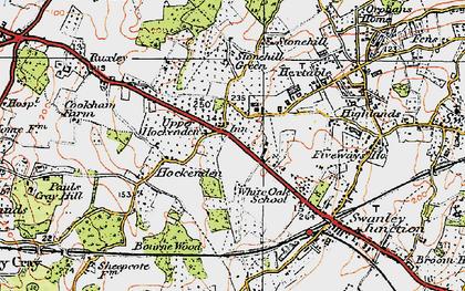 Old map of White Oak in 1920