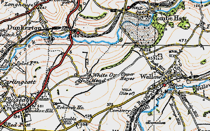 Old map of White Ox Mead in 1919
