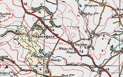 Old map of White Pit in 1923