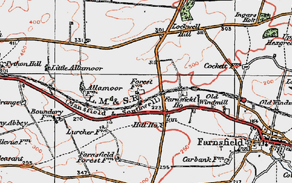 Old map of White Post in 1923
