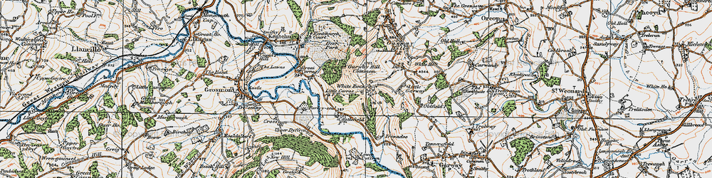 Old map of White Rocks in 1919