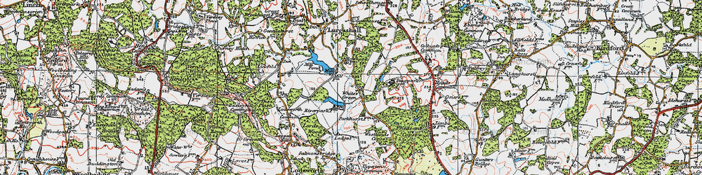 Old map of White's Green in 1920