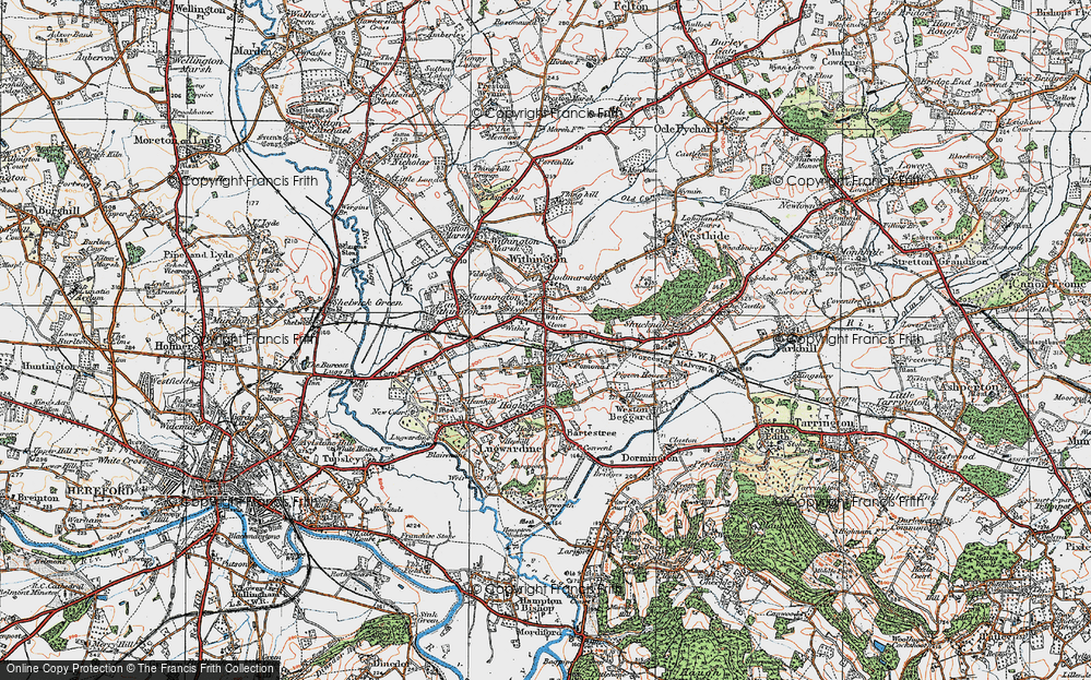 Old Map of White Stone, 1920 in 1920