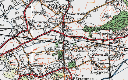 Old map of White Stone in 1920