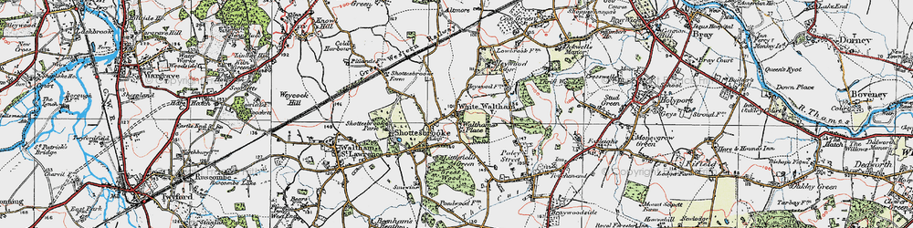 Old map of White Waltham in 1919