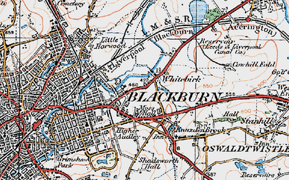 Old map of Whitebirk in 1924
