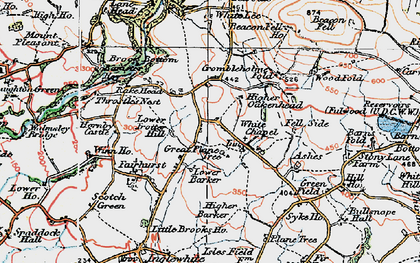 Old map of Wood Fold in 1924