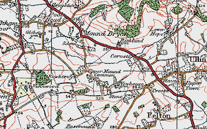 Old map of Whitechurch Maund in 1920
