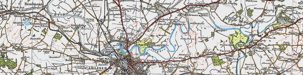 Old map of Whiteclosegate in 1925