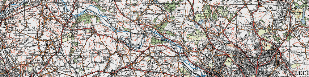 Old map of Whitecote in 1925