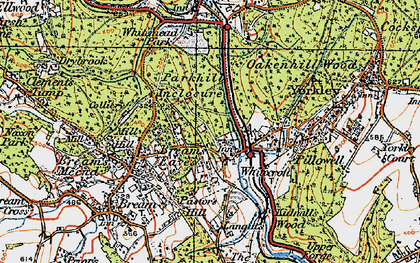 Old map of Whitecroft in 1919