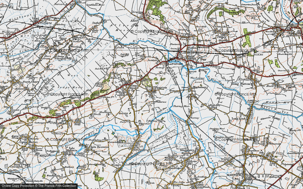 Old Map of Whitecross, 1919 in 1919