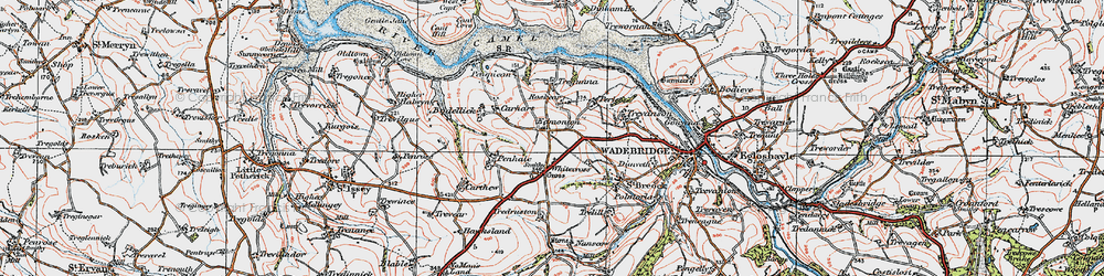 Old map of Whitecross in 1919