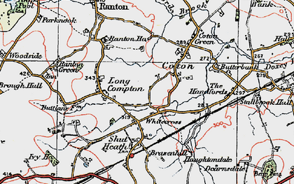 Old map of Whitecross in 1921