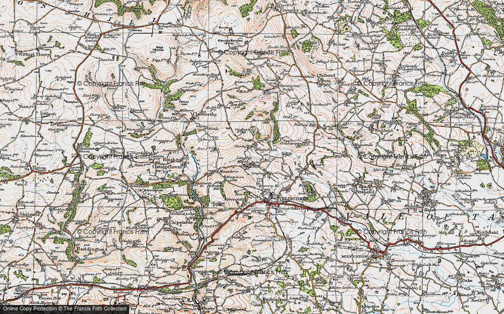 Old Map of Whitefield, 1919 in 1919