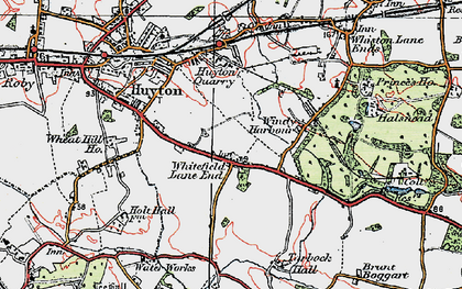 Old map of Whitefield Lane End in 1923