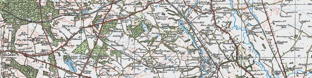 Old map of Whitegate in 1923