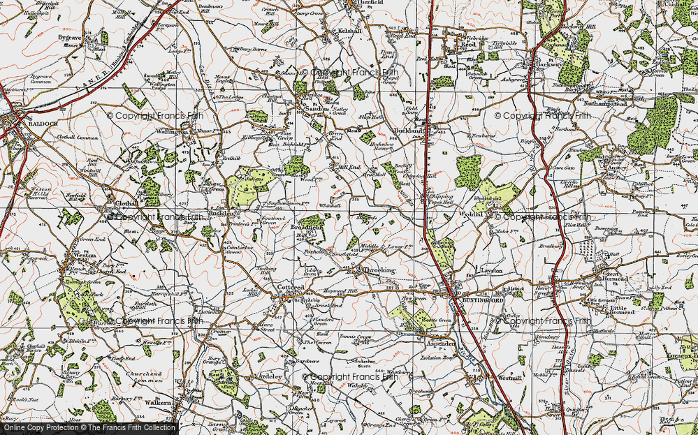 Old Map of Whitehall, 1919 in 1919