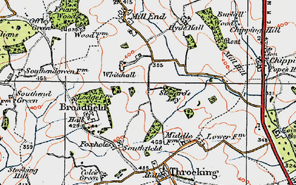 Old map of Whitehall in 1919