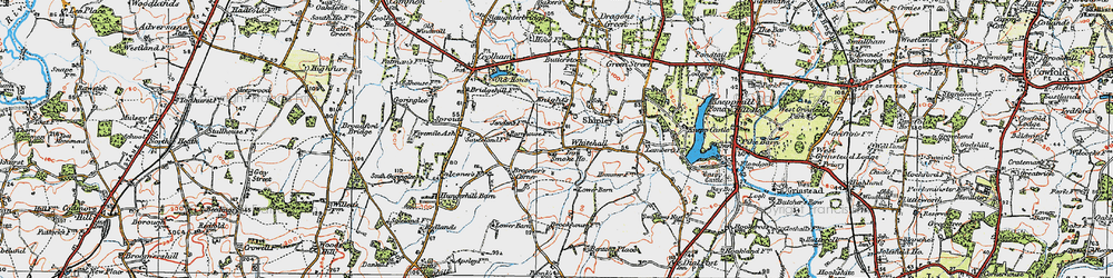 Old map of Whitehall in 1920