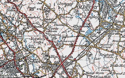 Old map of Whiteheath Gate in 1921
