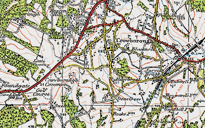Old map of Whitehill in 1920