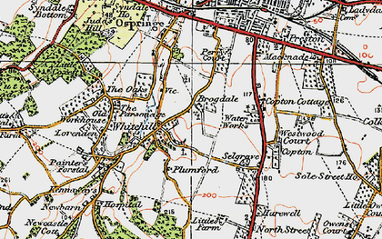 Old map of Whitehill in 1921