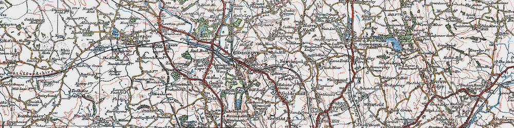 Old map of Whitehill in 1923