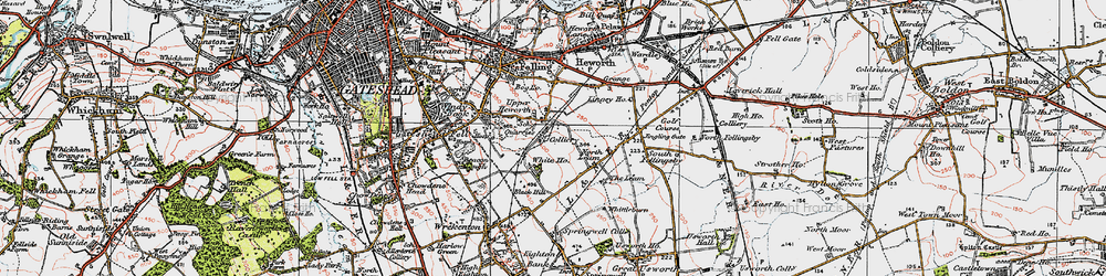 Old map of Whitehills in 1925