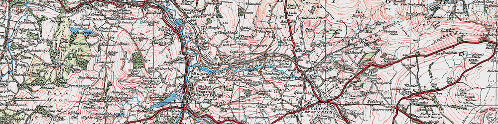 Old map of Whitehough in 1923