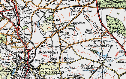 Old map of Ashfurlong Hall in 1921