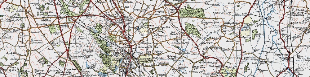 Old map of Whitehouse Common in 1921
