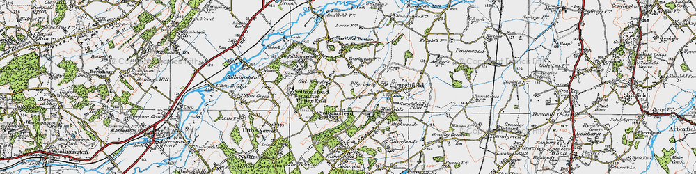 Old map of Whitehouse Green in 1919