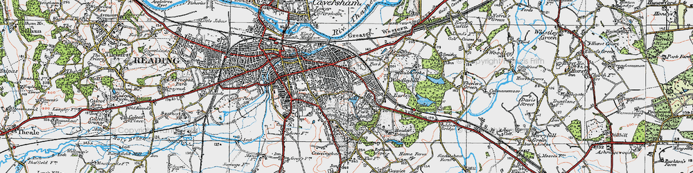 Old map of Whiteknights in 1919