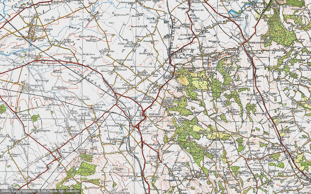 Old Map of Whiteleaf, 1919 in 1919