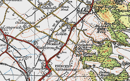 Old map of Whiteleaf in 1919