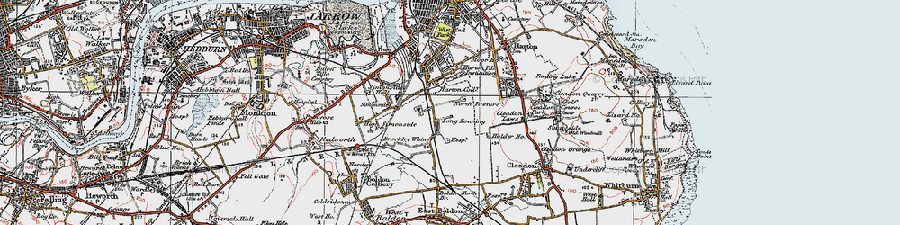 Old map of Whiteleas in 1925