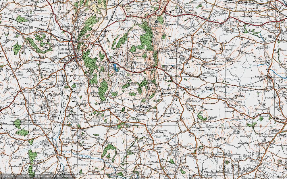 Old Map of Whiteleaved Oak, 1920 in 1920