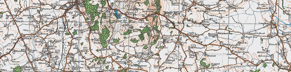 Old map of Whiteleaved Oak in 1920